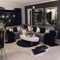 55 Black And Gray Living Room Decorating Ideas 2020 15