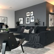 55 Black And Gray Living Room Decorating Ideas 2020 29