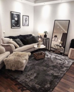 55 Black And Gray Living Room Decorating Ideas 2020 4