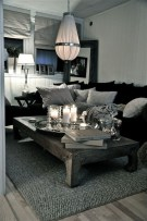 55 Black And Gray Living Room Decorating Ideas 2020 6
