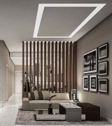 56 Astonishing Partition Design Ideas For Living Room 35