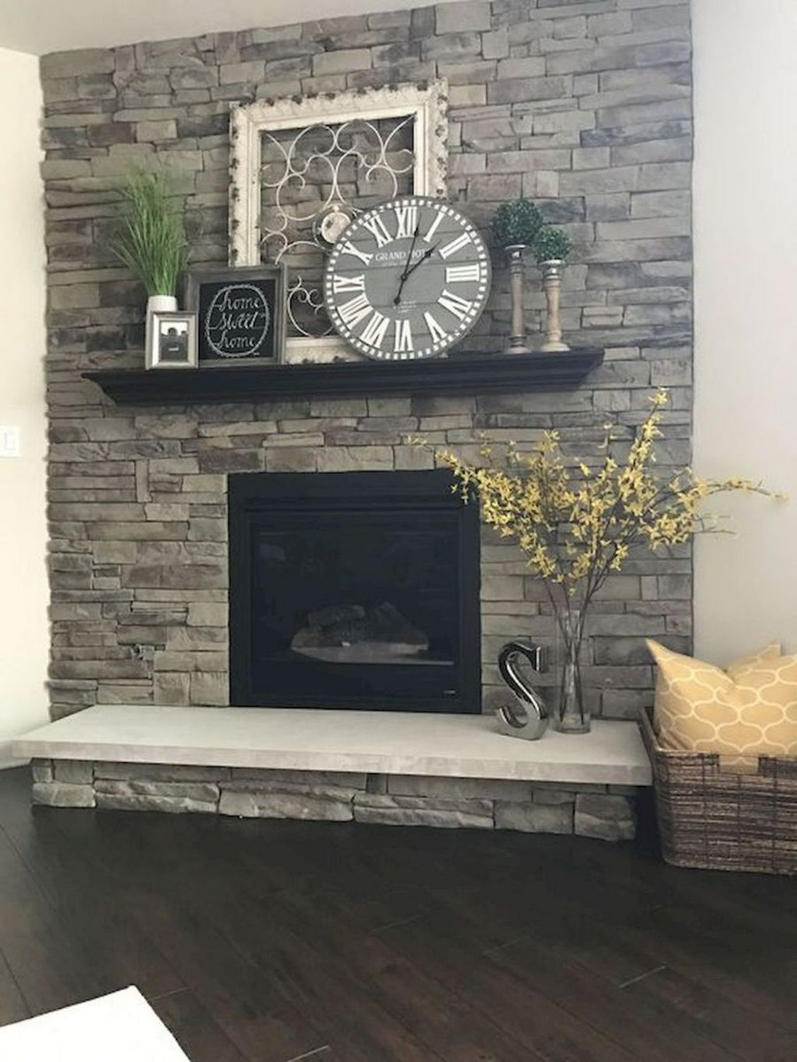 76 Stone Fireplaces The Hearth Is The Heart of The Home 65