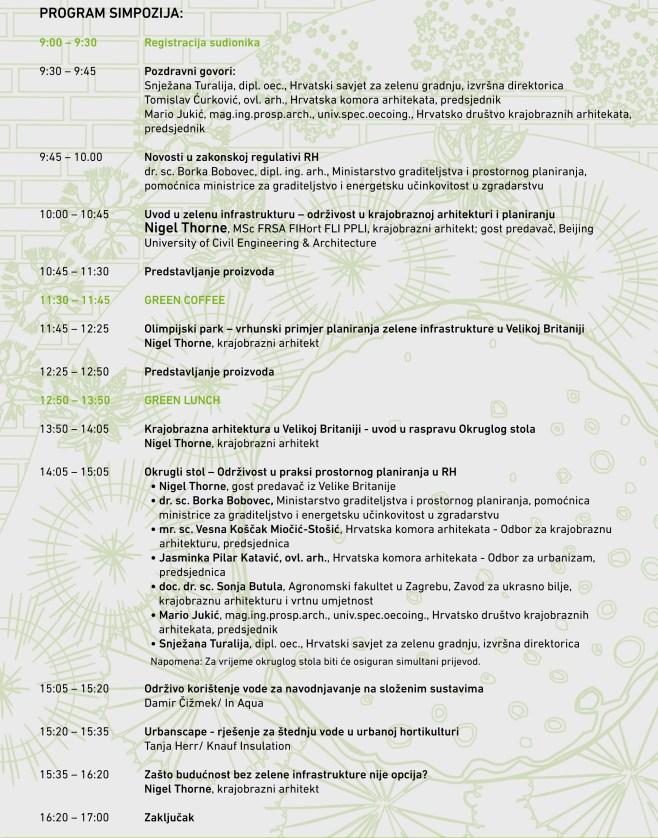 Program __Održivost i krajobrazna arhitektura - više od dizajna!_(1)