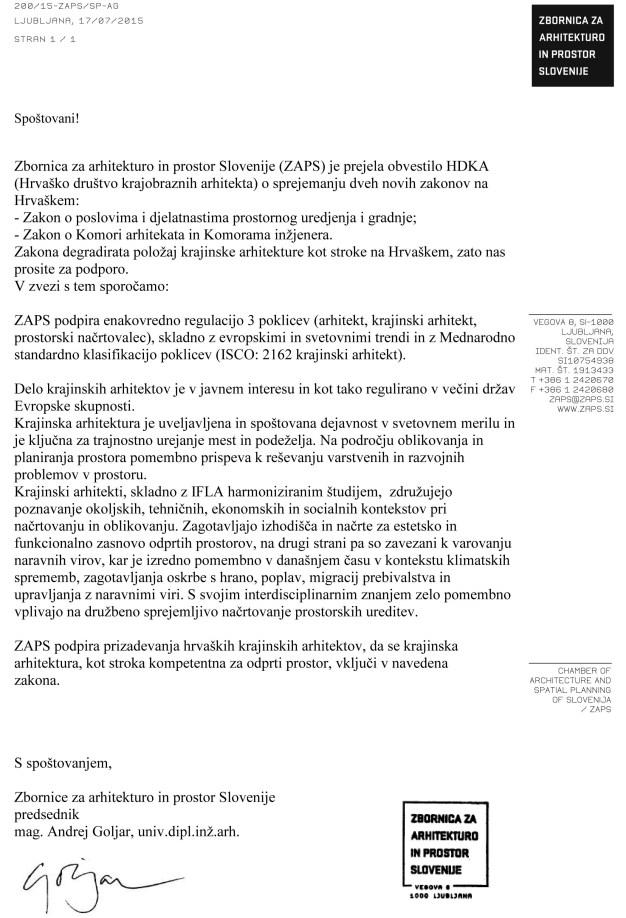 ZAPS dopis_predlog teksta MSKA za pismo podpore ZAPS hrvaškim k