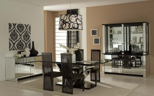 dining modern wall formal table decor contemporary dinning leather decorating furniture recent rooms sets rectangle chairs round area covered pieces