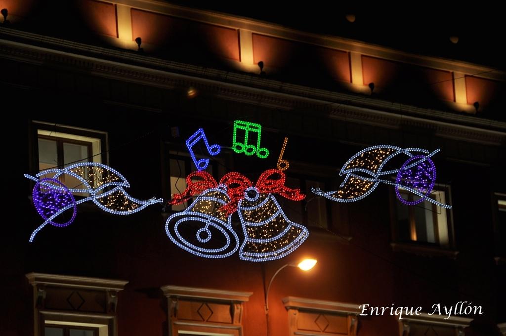 Iluminacin de Navidad Sevilla  Desde la Giralda