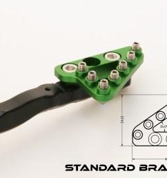 kawasaki kx250f forged rear brake pedal [ 2307 x 1538 Pixel ]