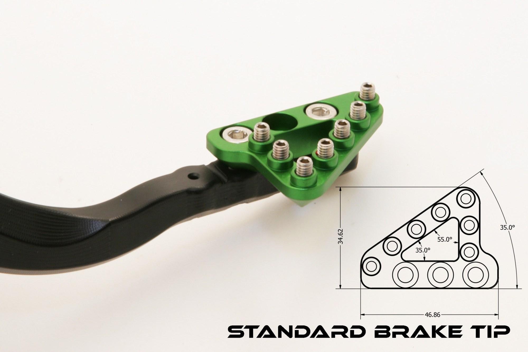 hight resolution of kawasaki kx250f forged rear brake pedal
