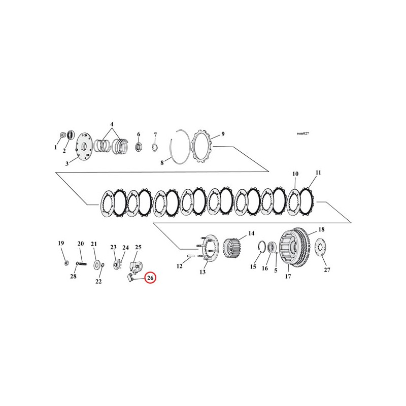 Giunto cavo frizione Replica OEM Harley Davidson XL