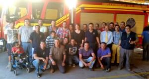 Gobernadora de Colchagua, Carolina Cucumides Calderón, junto Bomberos 5ª Compañía de Cunaco,