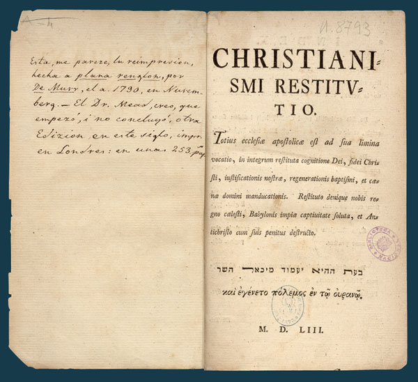 christianismi retitutio