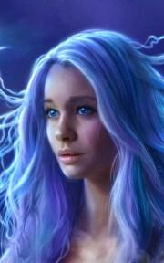 800x1280 blue eyes hair fantasy