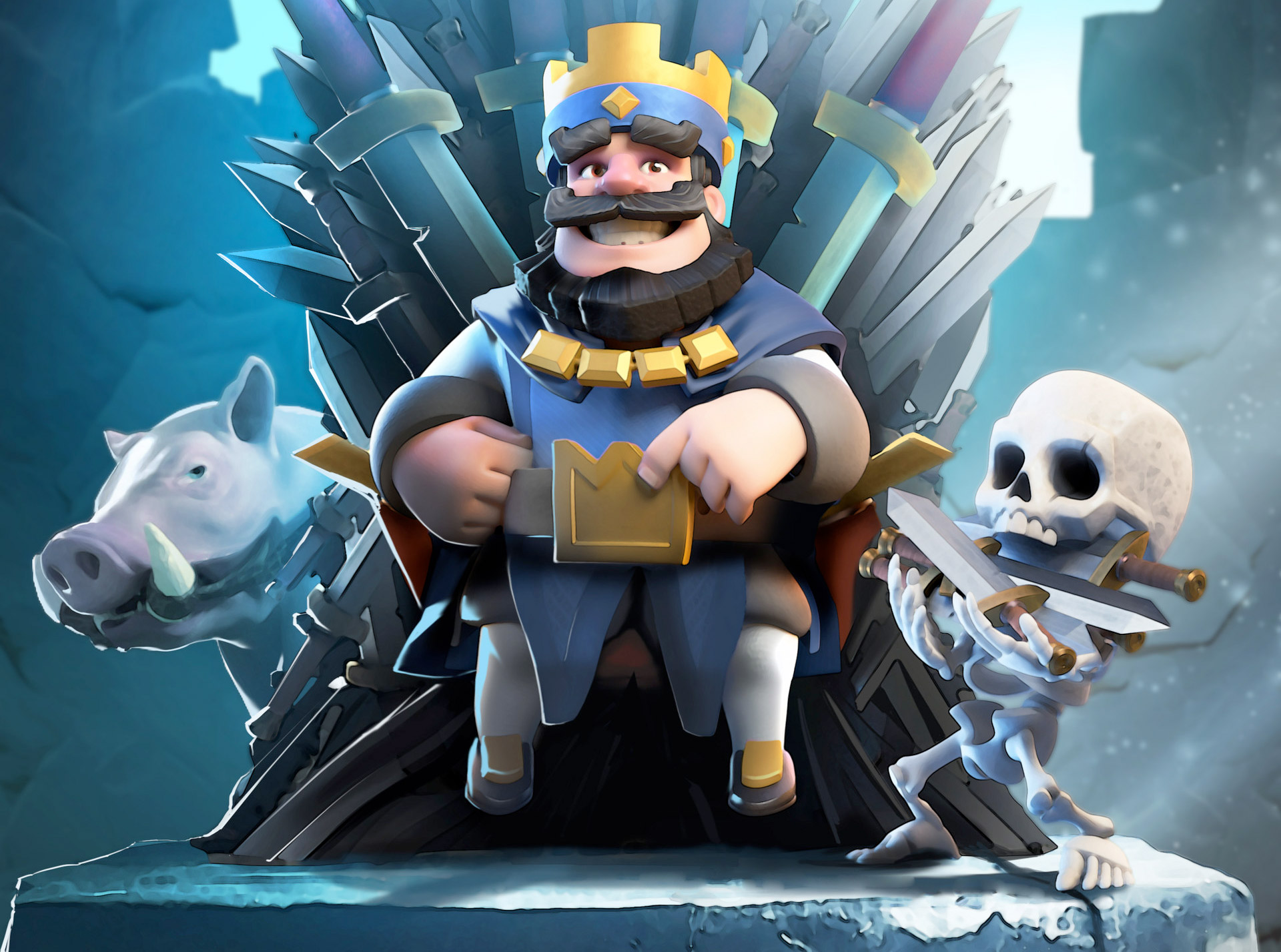 Clash Royale Blue King Hd, Hd Games, 4k Wallpapers, Images