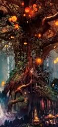 fantasy 4k forest artwork tree wallpapers hd iphone backgrounds xs digital landscape trees 3d wallpapersmug