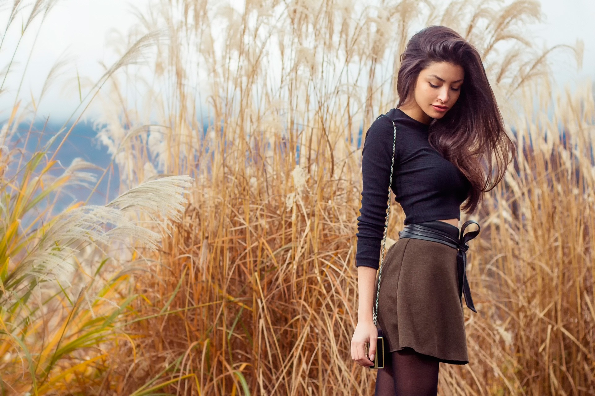 Girl In Skirt Outdoor, Hd Girls, 4k Wallpapers, Images