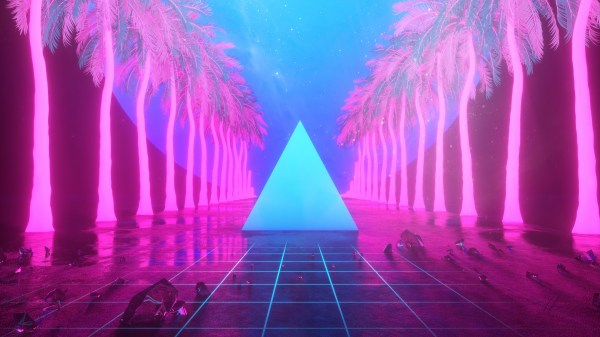 4K Neon Miami Wallpaper