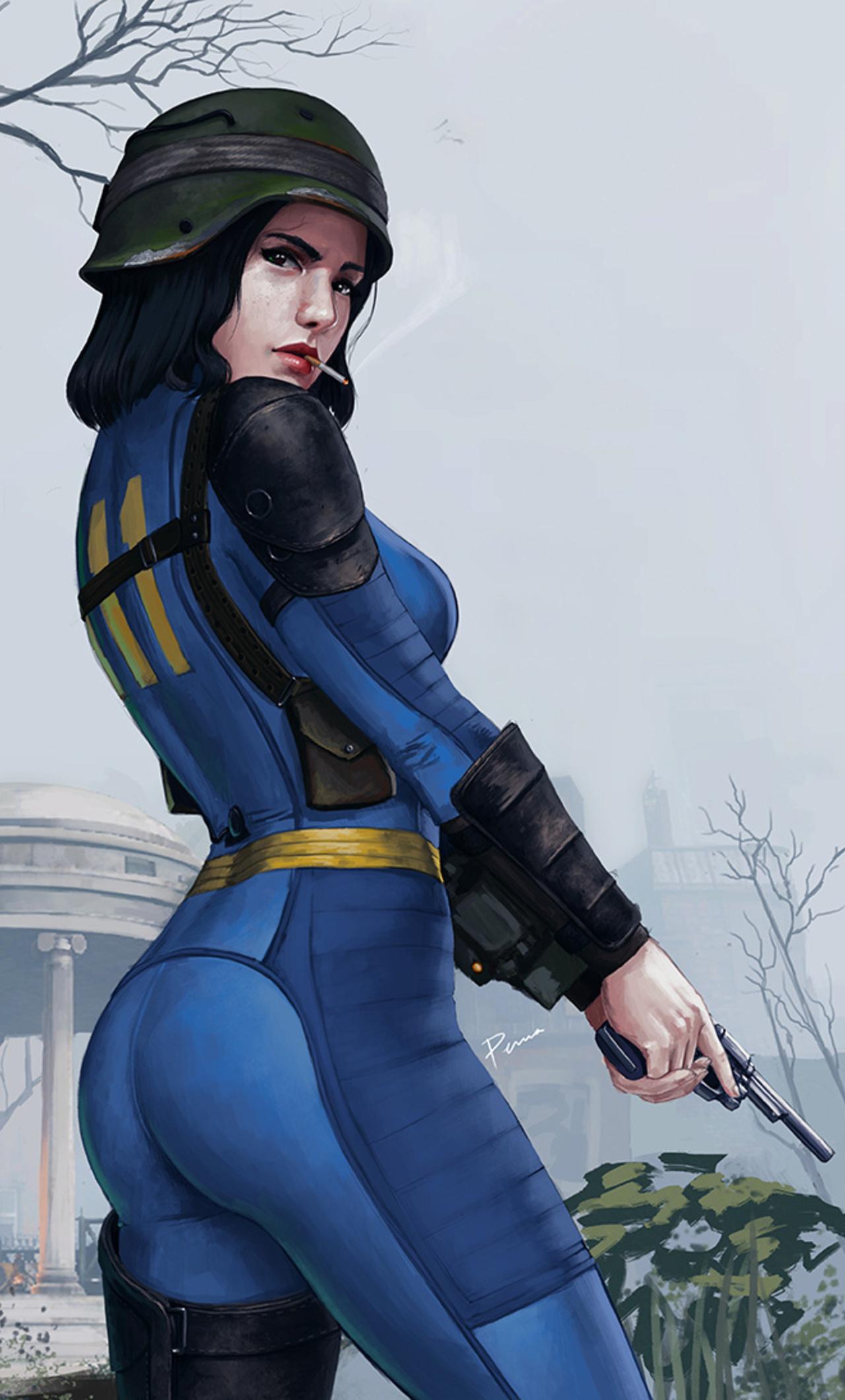 Indian Girl Wallpaper 1080x1920 1280x2120 Sole Survivor Fallout 4 Artwork Iphone 6 Hd 4k
