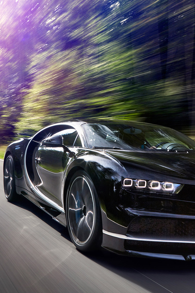 3d Moving Wallpaper For Iphone 6 640x960 2017 Bugatti Chiron In Motion Iphone 4 Iphone 4s