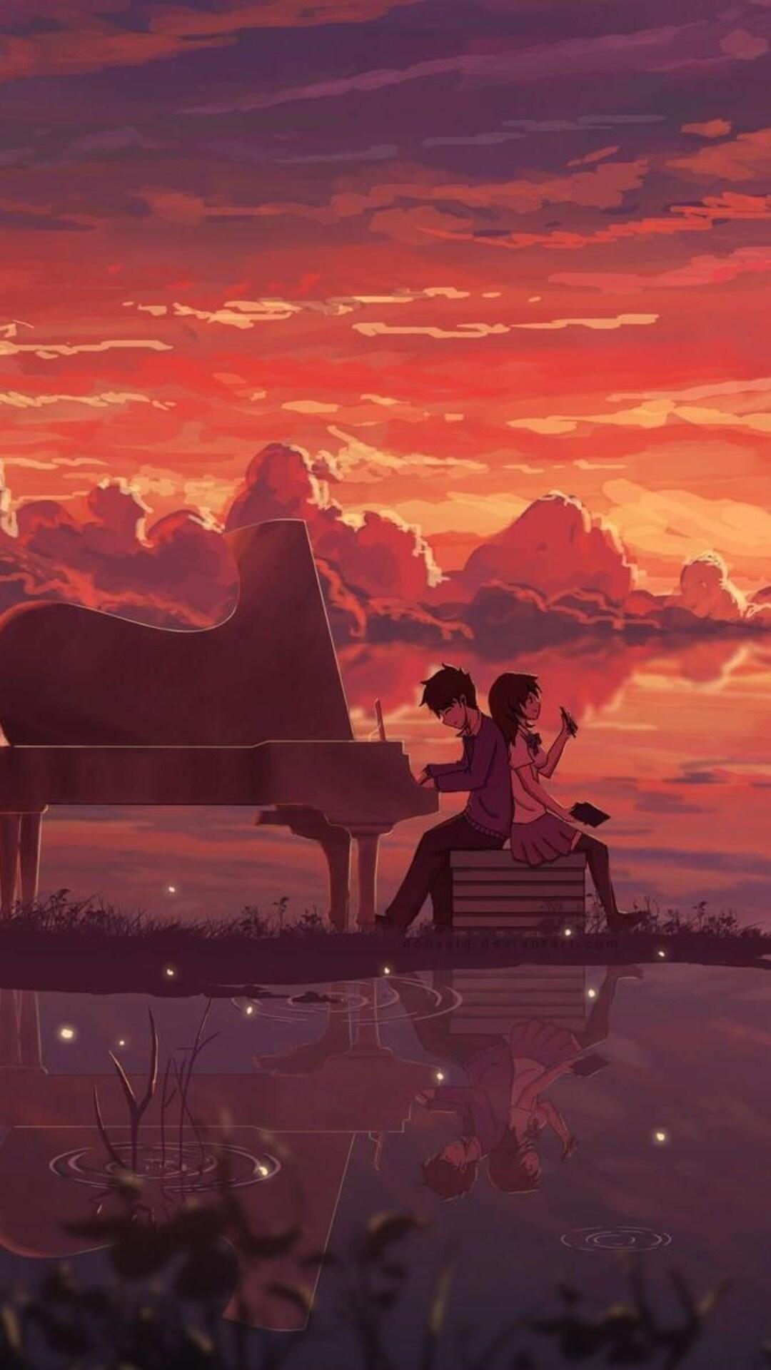 Sad Boy And Girl Love Wallpaper Hd 1080x1920 Anime Love Digital Art Iphone 7 6s 6 Plus Pixel