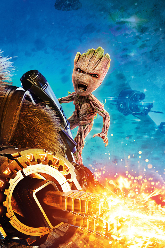 640x960 Baby Groot And Rocket Raccoon Guardians Of The