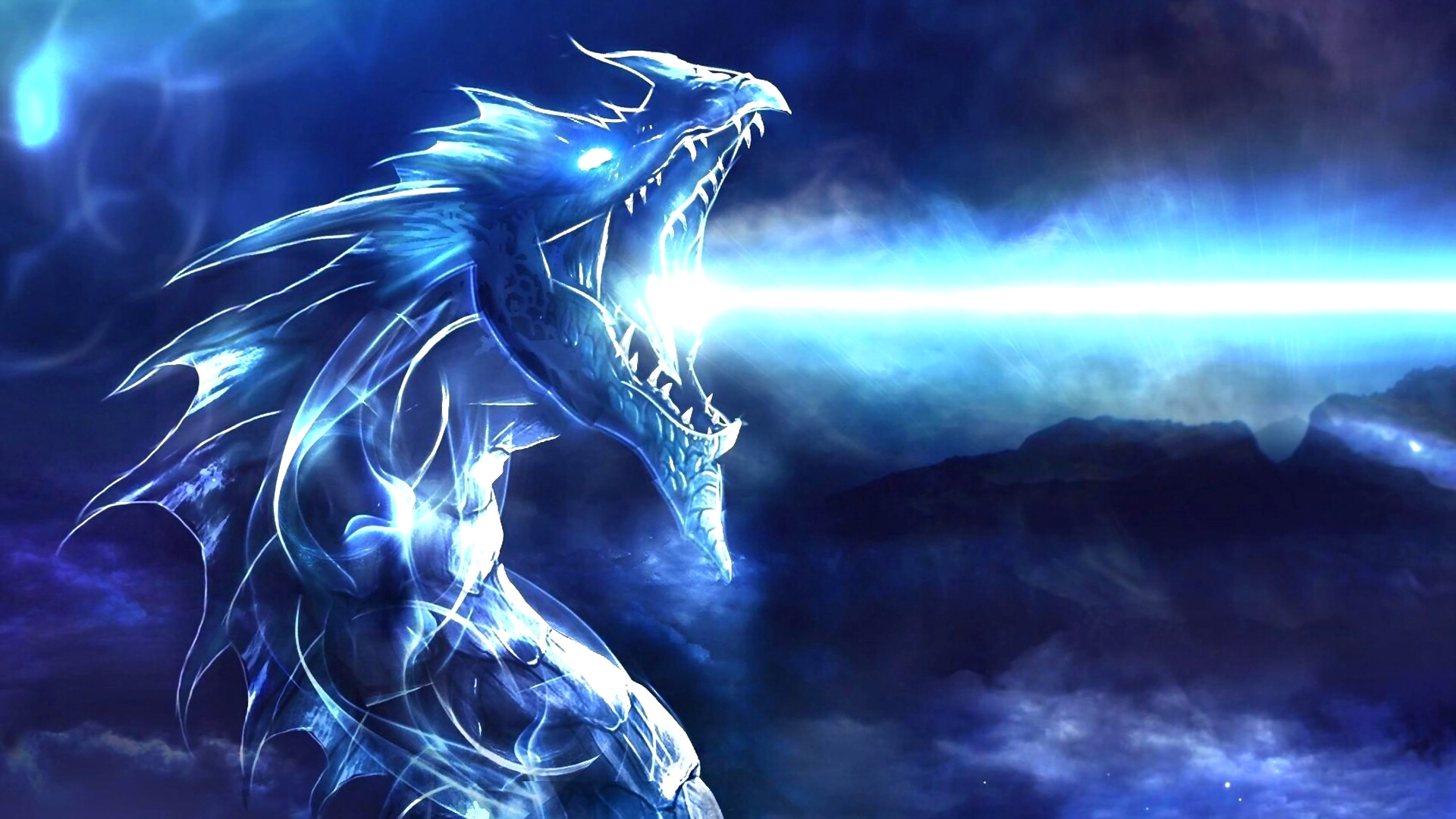 1080p Blue Dragon Logo Wallpaper