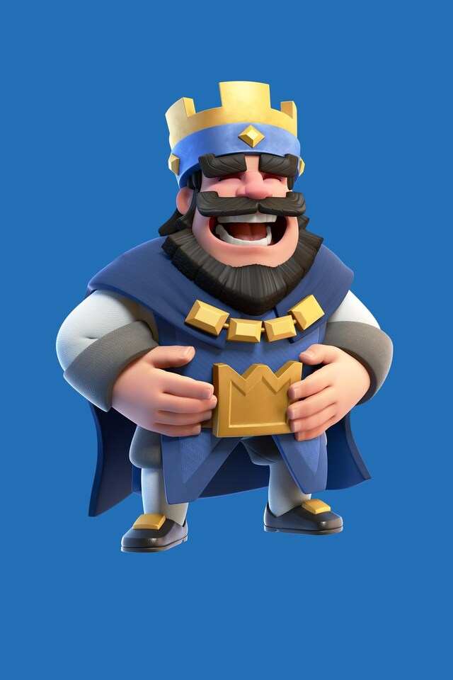 640x960 Clash Royale Blue King Iphone 4, Iphone 4s Hd 4k