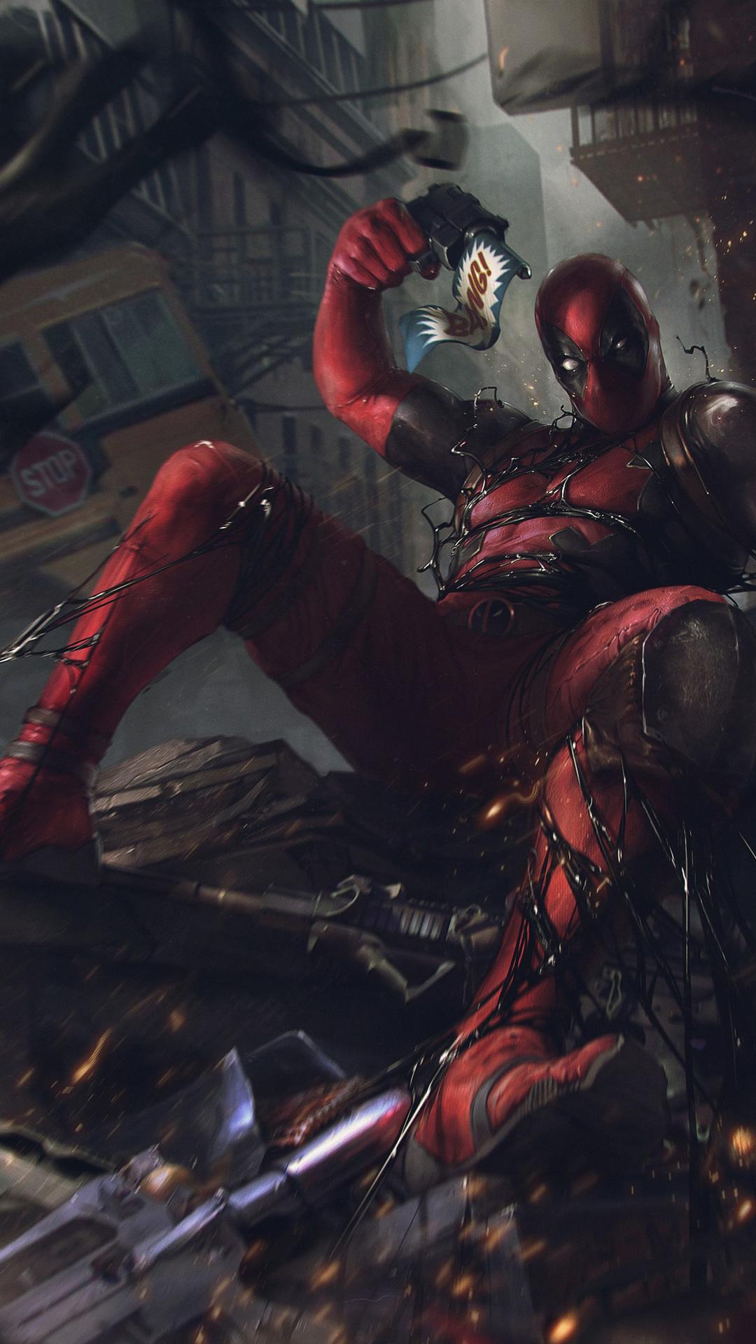 Deadpool Iphone Wallpaper Cute 1080x1920 Deadpool Vs Venom Symbiote Iphone 7 6s 6 Plus