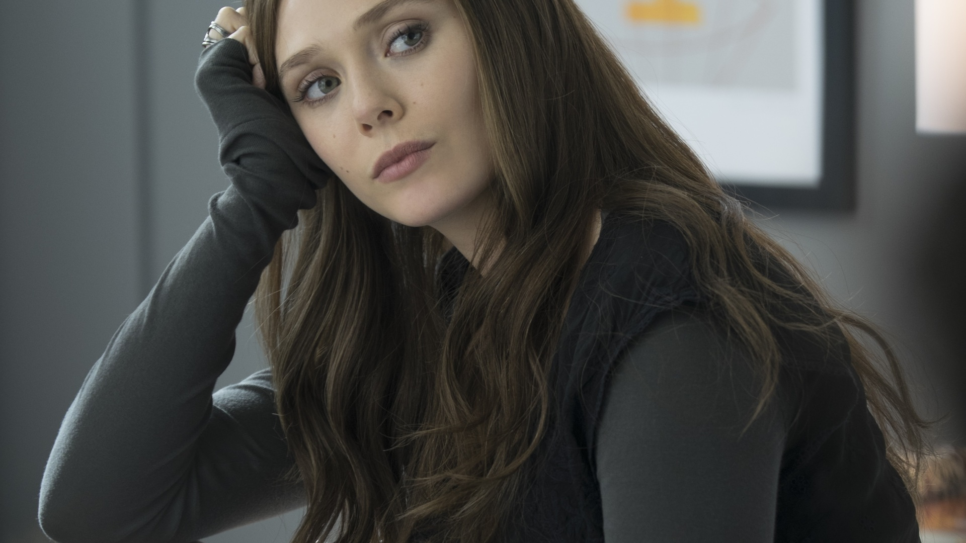1920x1080 Elizabeth Olsen As Scarlet Witch Laptop Full HD 1080P HD 4k Wallpapers. Images. Backgrounds. Photos and Pictures