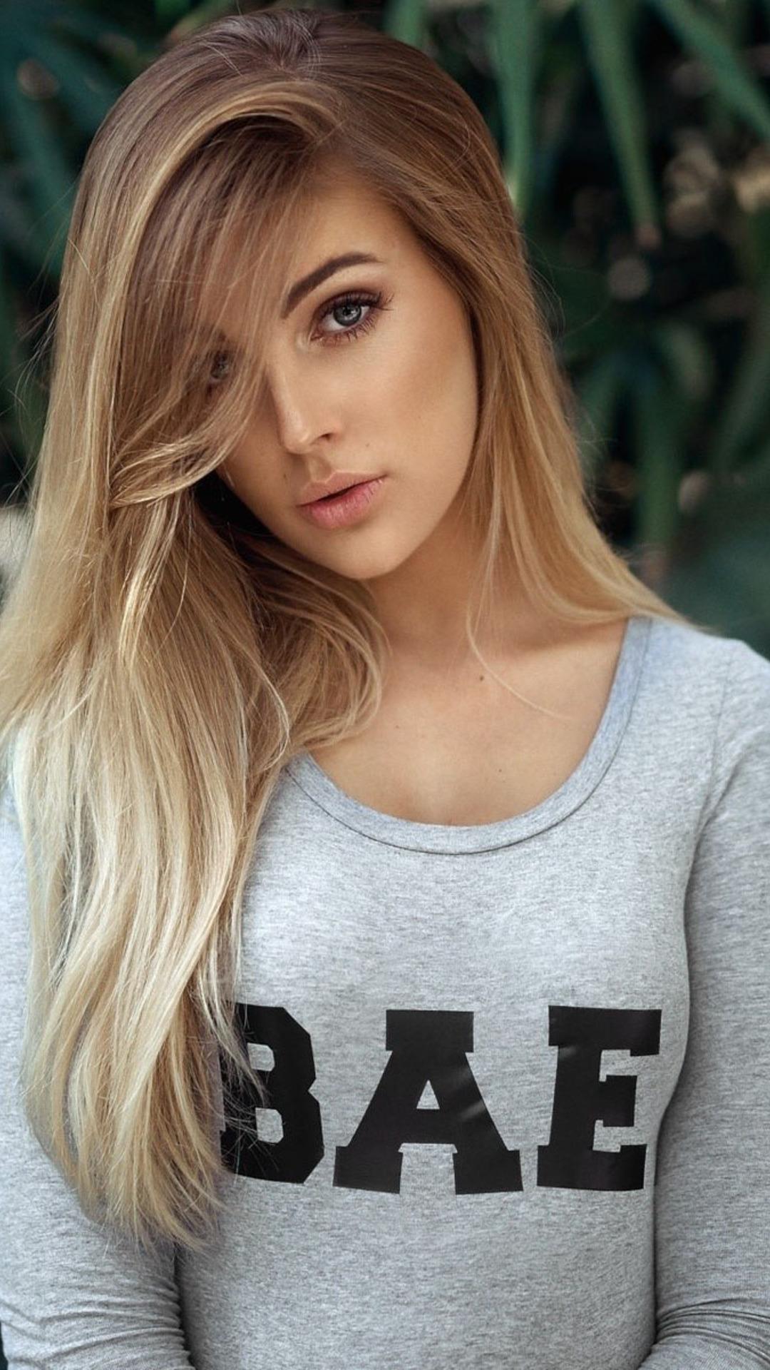Cute Girl Hd Wallpaper Indian 1080x1920 Girl With Bae Shirt Iphone 7 6s 6 Plus Pixel Xl