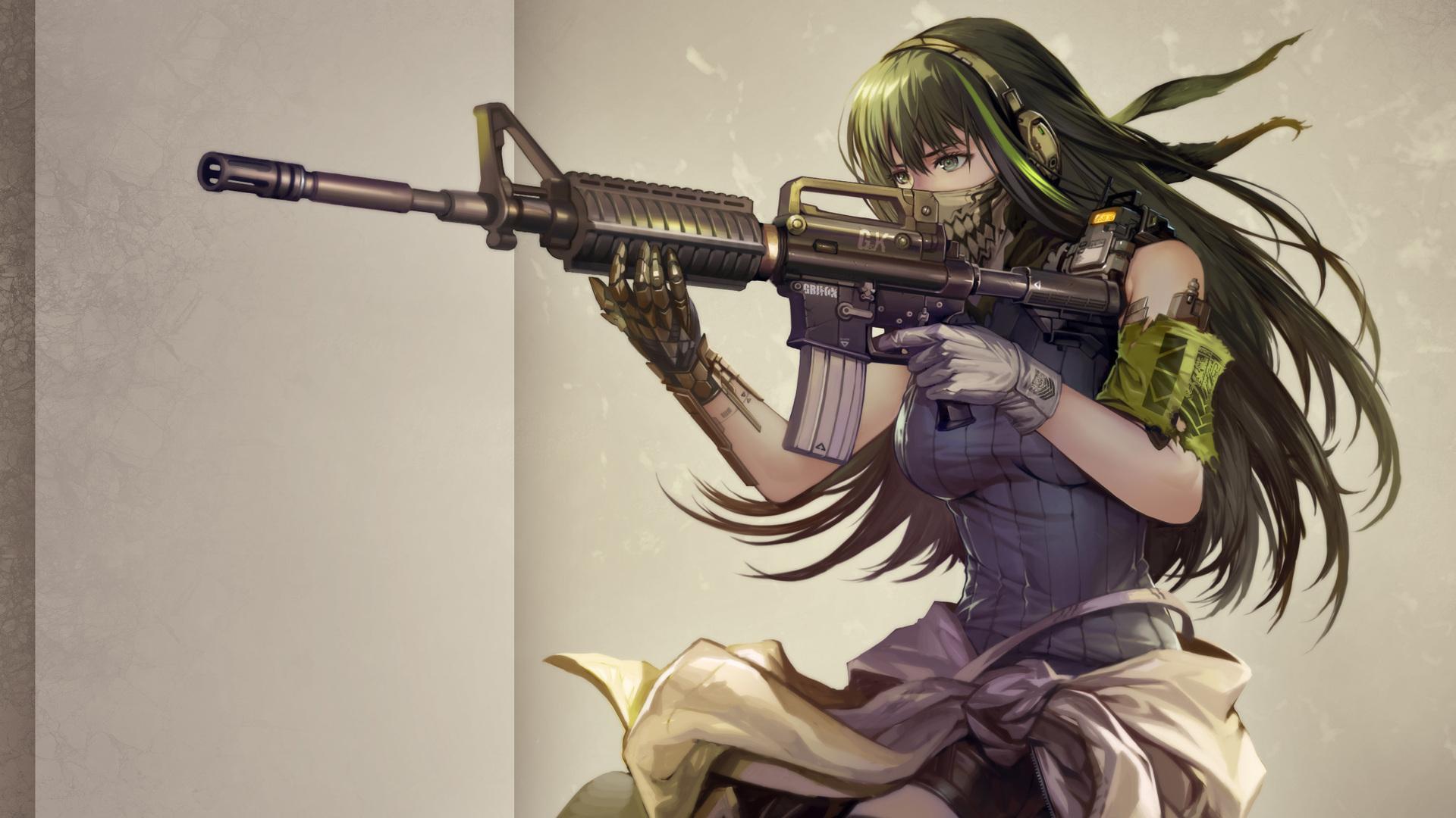 Cute Chibi Anime Desktop Wallpaper 1920x1080 Girls Frontline Anime Laptop Full Hd 1080p Hd 4k