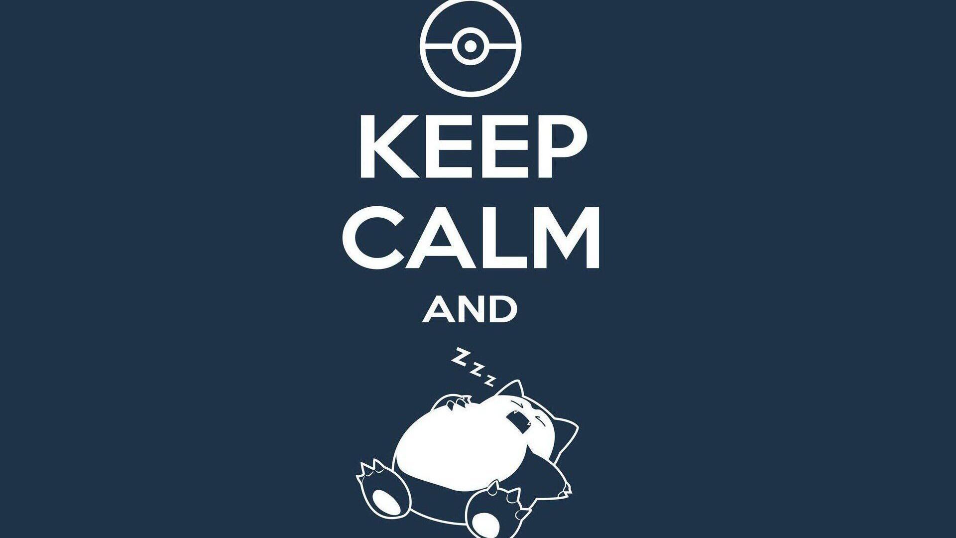 Cute Pokemon Wallpaper Wide 1920x1080 Keep Calm And Sleep Laptop Full Hd 1080p Hd 4k