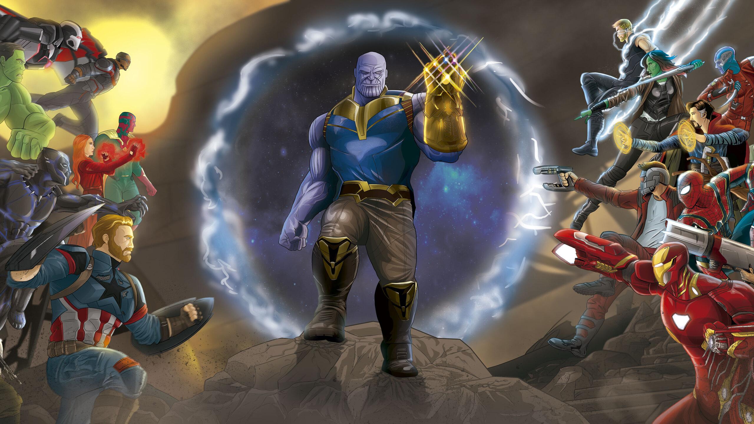 Pubg Wallpaper Logo 2560x1440 Marvel Avengers Infinity War Fan Art 1440p