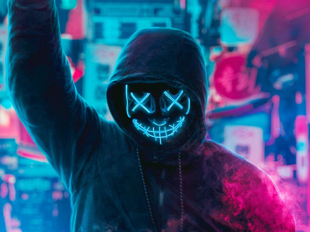 1024x768 mask guy neon