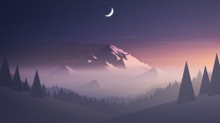 moon hd mountains minimalism wallpapers trees 1080p laptop 4k backgrounds digital artwork resolution artist