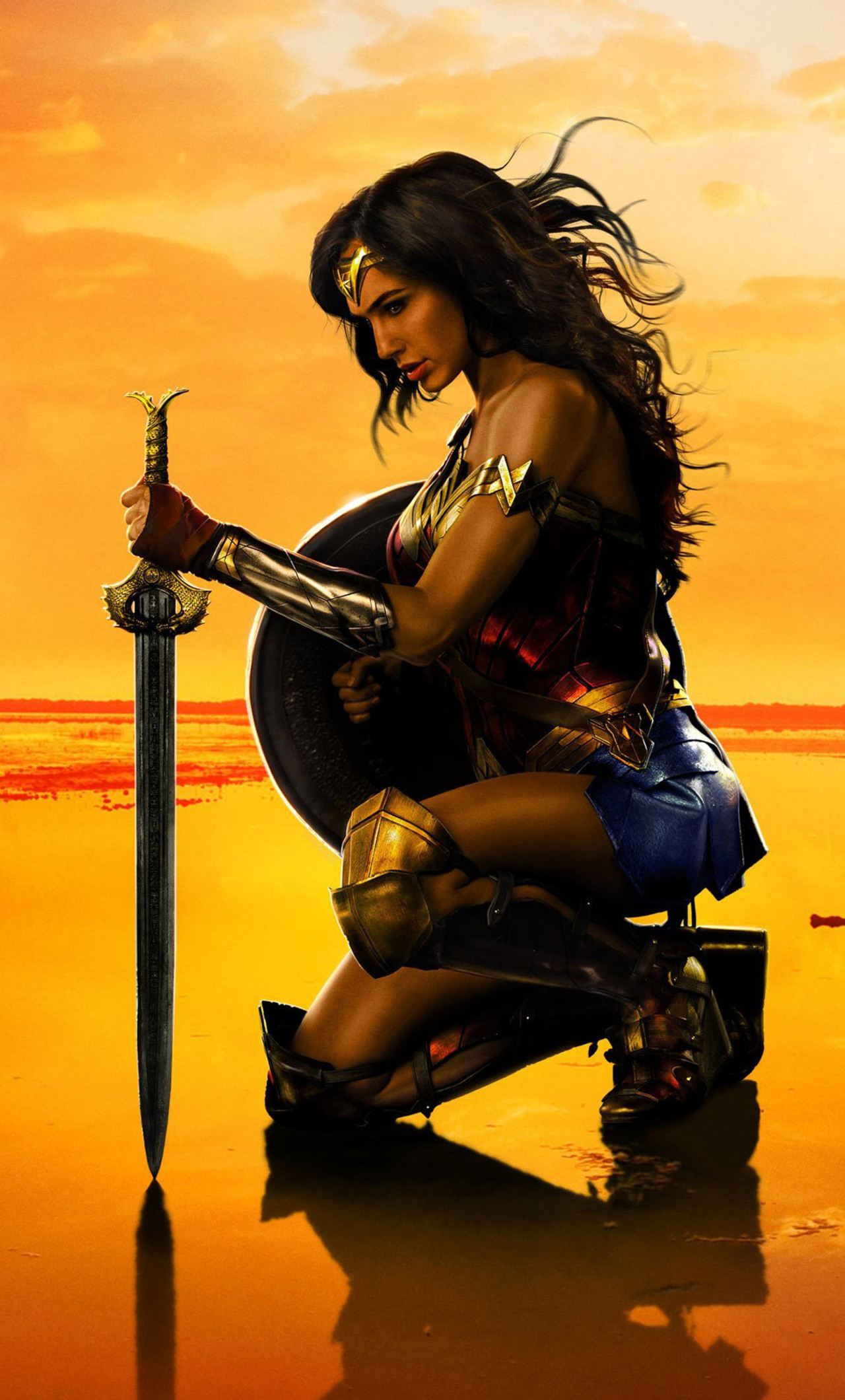 1280x2120 New Wonder Woman Poster Iphone 6+ Hd 4k