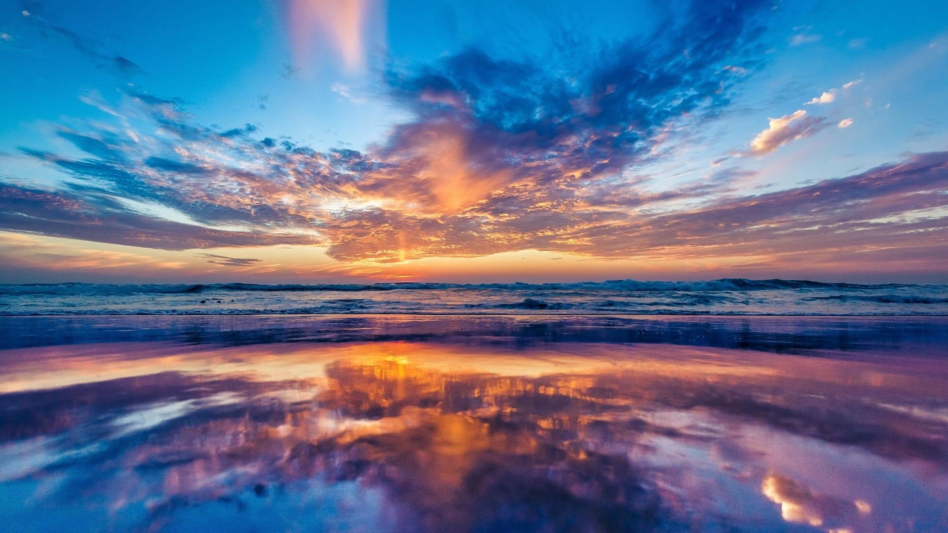 1920x1080 ocean sky sunset