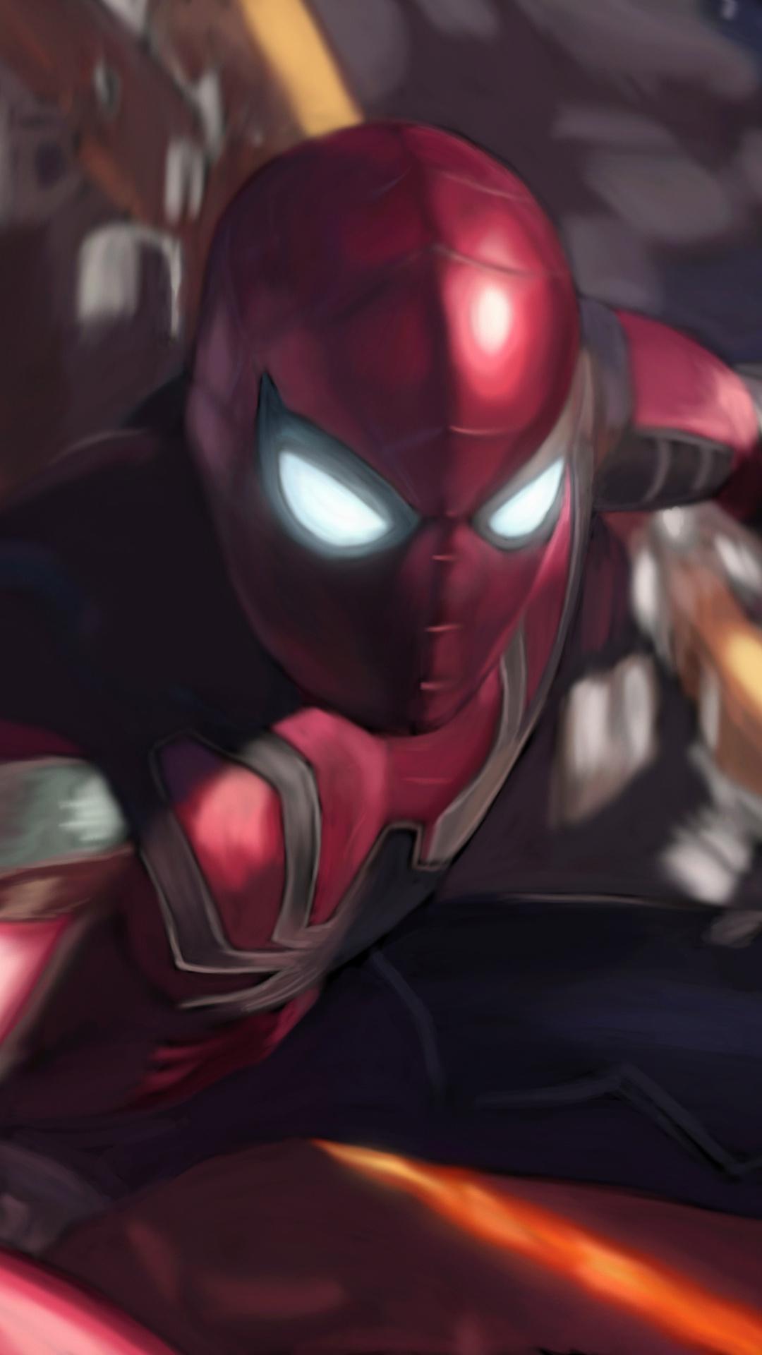 Thanos Wallpaper Iphone X 1080x1920 Spiderman New Suit In Infinity War 4k Iphone 7