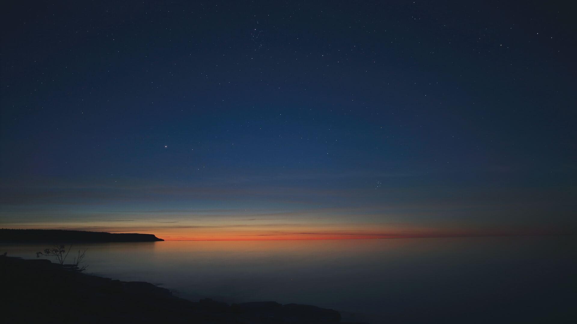 1920x1080 starry night calm