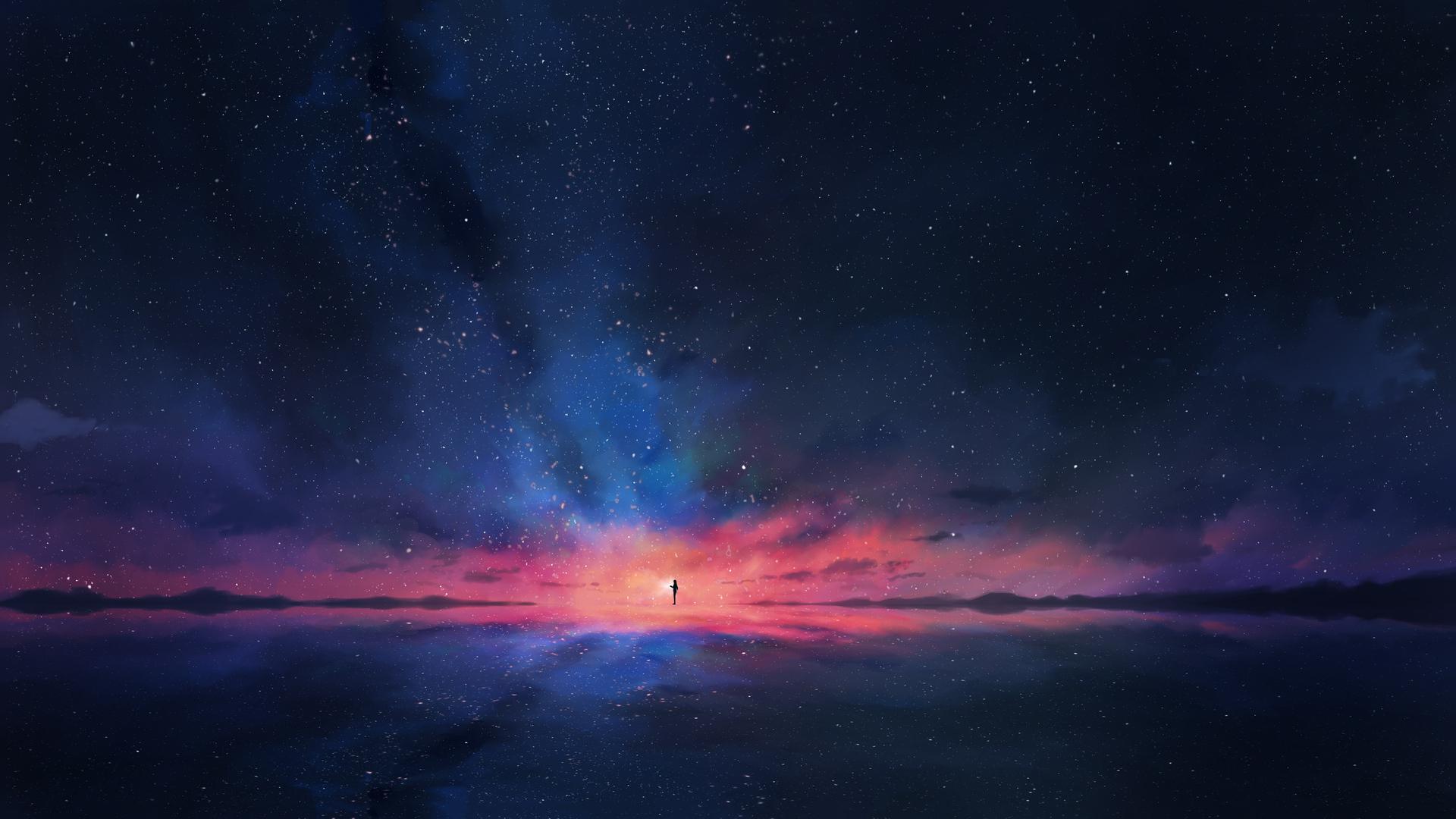 1920x1080 stars minimalism space