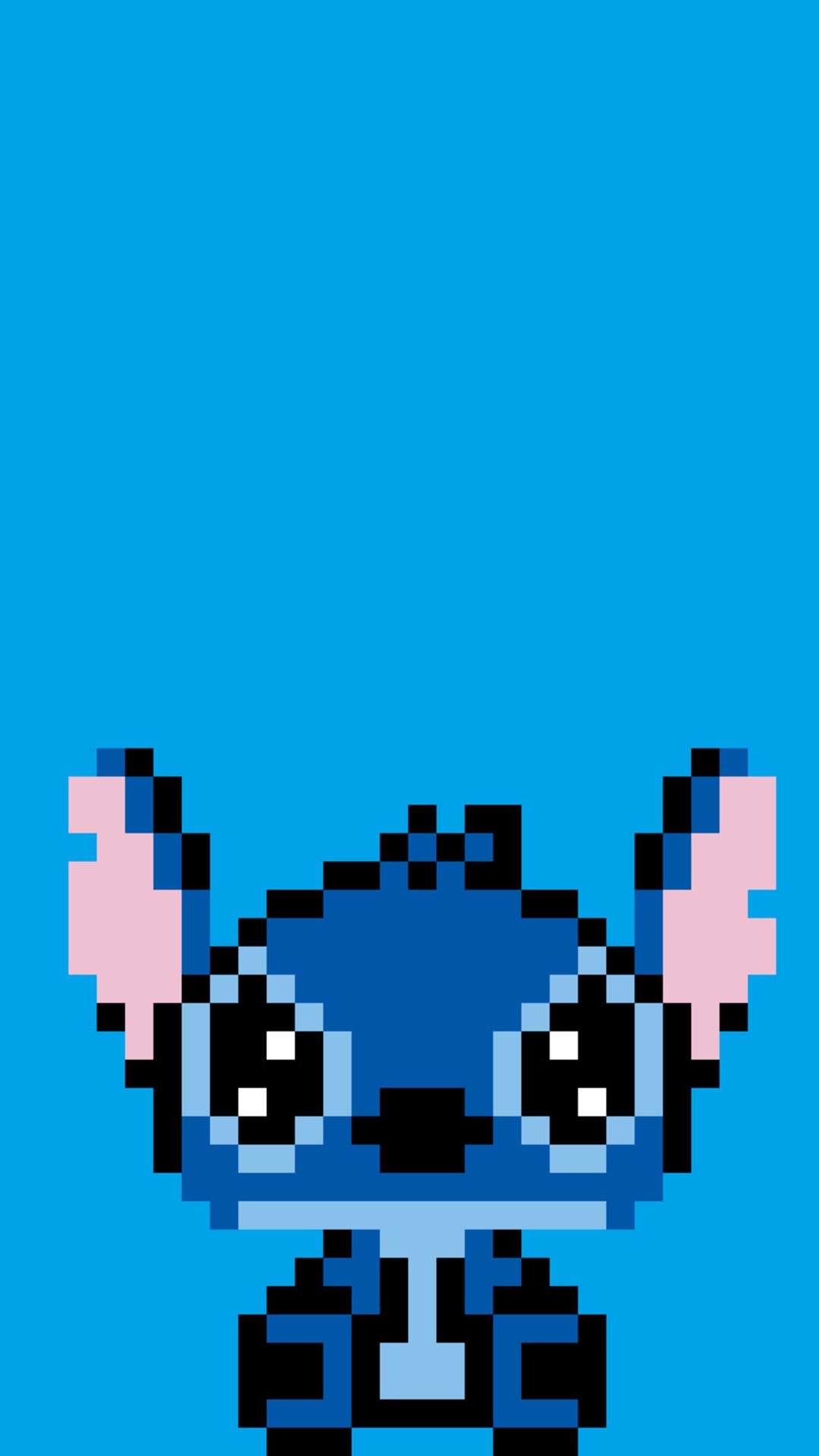 Stitch Cute Wallpaper For Computer 1080x1920 Stitch Pixel Art Iphone 7 6s 6 Plus Pixel Xl