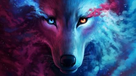 galaxy wolf wallpapers hd laptop 1080p photoshop digital 4k backgrounds 2813 artwork artist