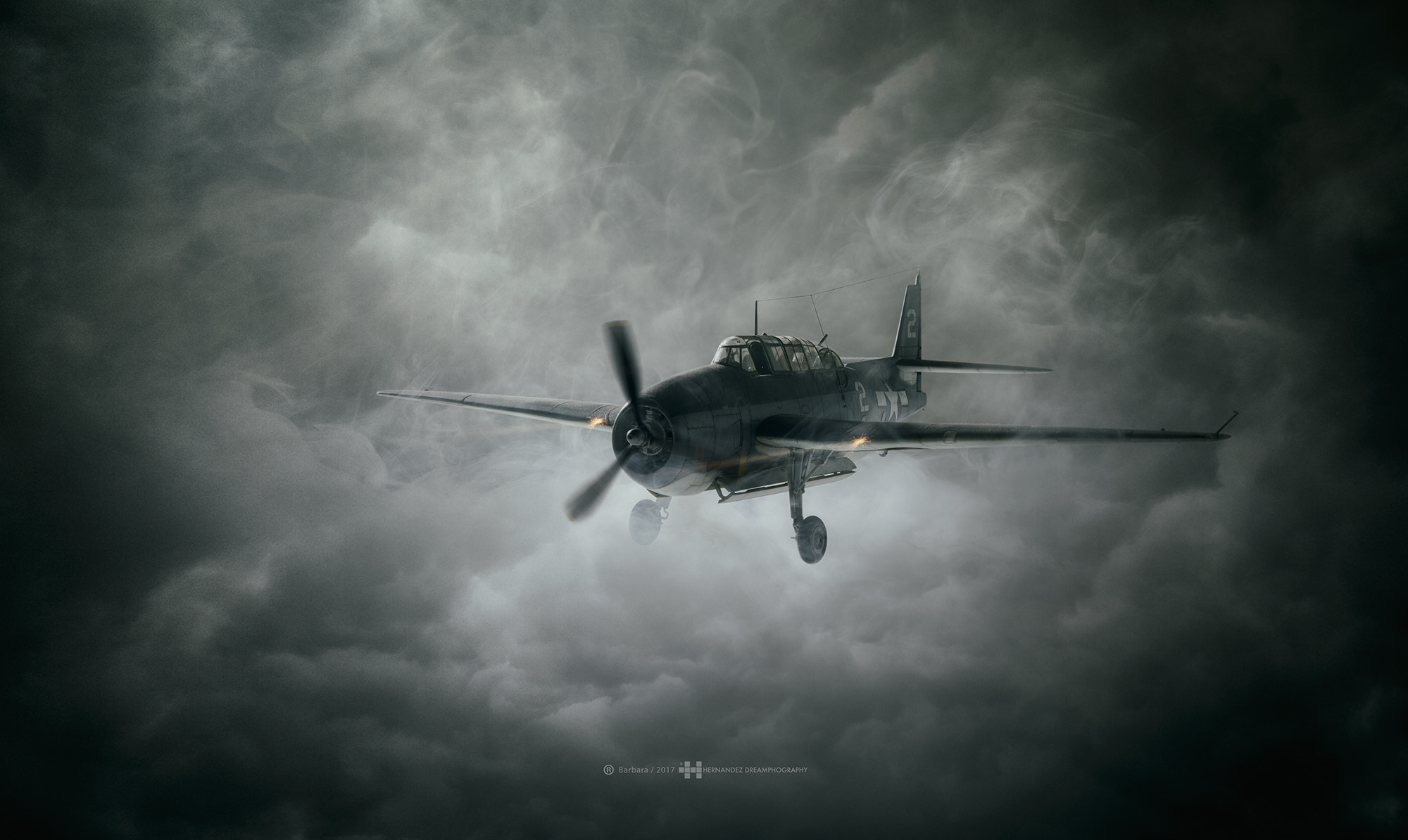 aircraft dark clouds hd