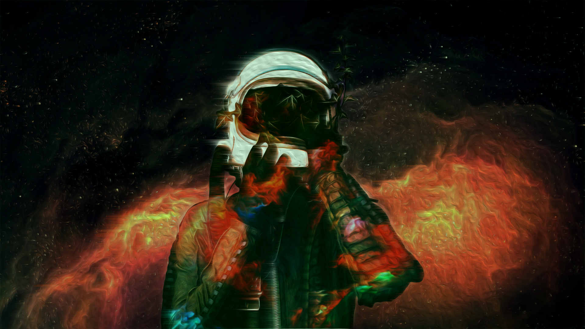 astronaut space abstract zm