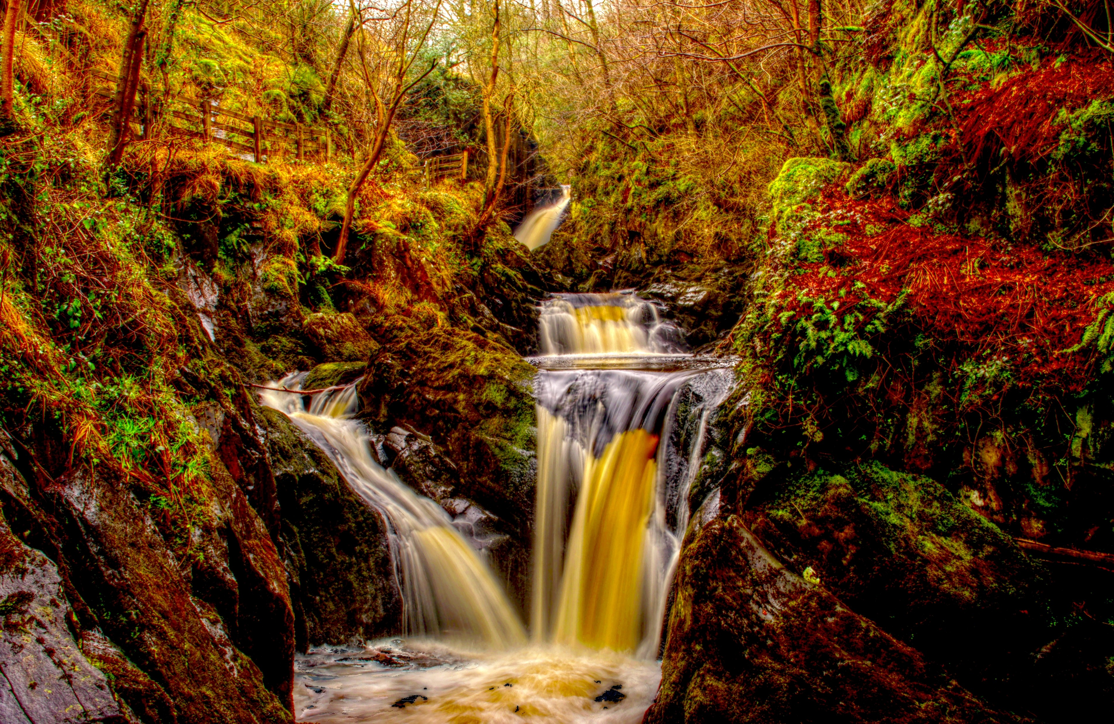 Free Fall Wallpaper For Pc Autumn Waterfall Hd Nature 4k Wallpapers Images