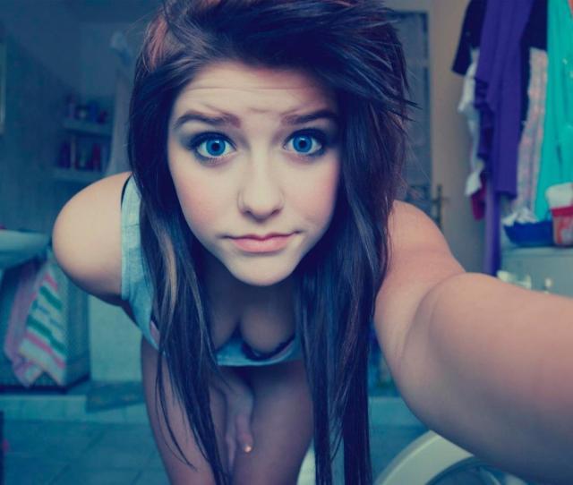 Blue Eyes Cute Teen Girl