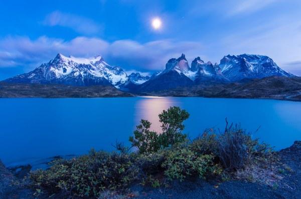 chile earth lake landscape moon