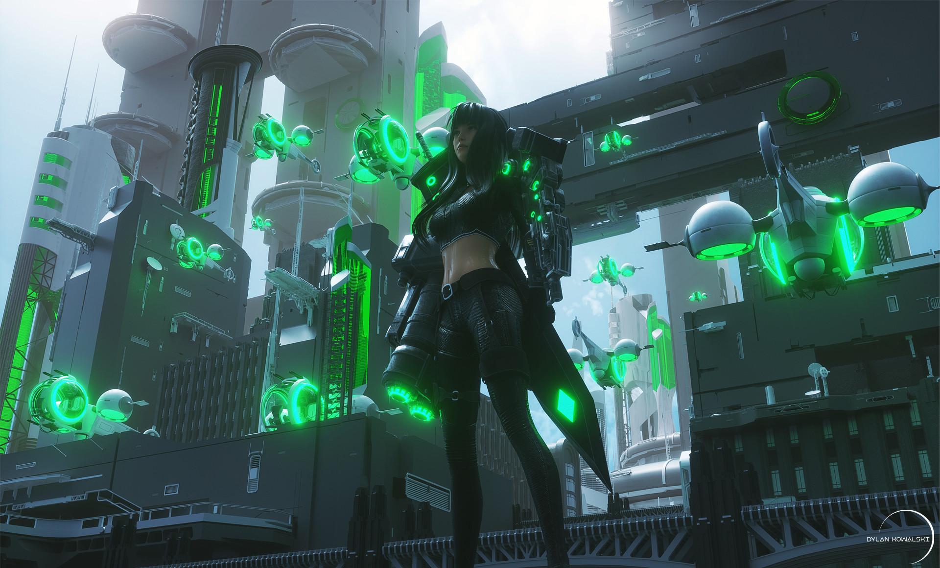 Cyberpunk Wallpaper Girl Cyber City Girl Hd Artist 4k Wallpapers Images