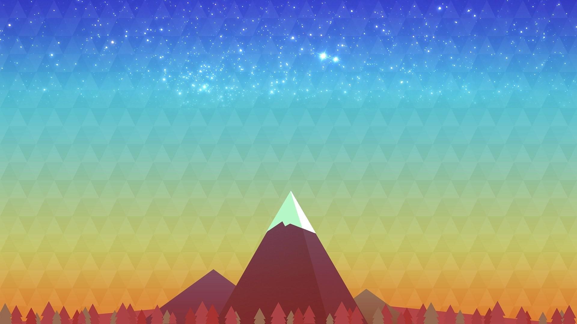 Cute Hipster Desktop Wallpaper Digital Art Mountains Hd Artist 4k Wallpapers Images