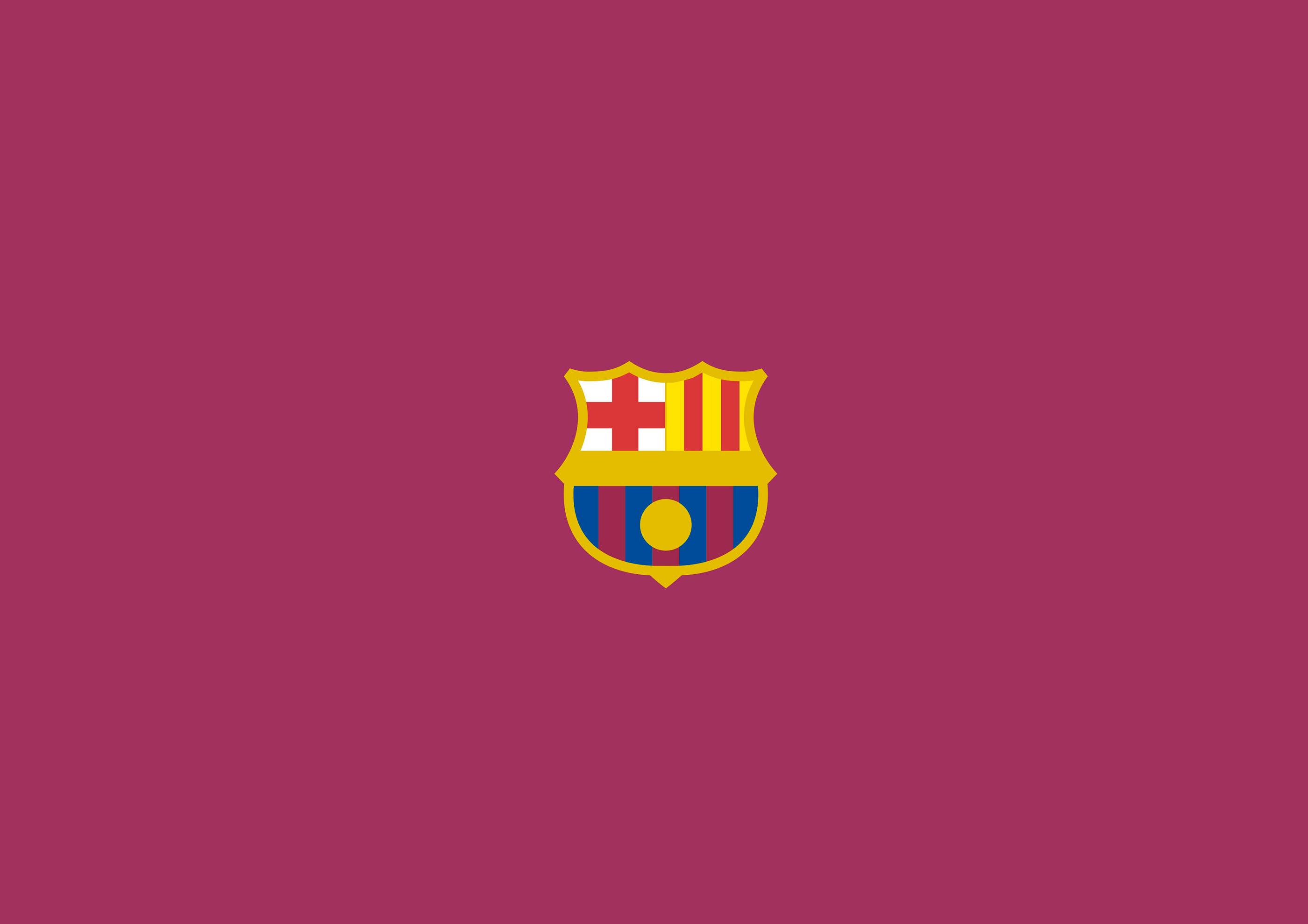 fc barcelona logo minimalism