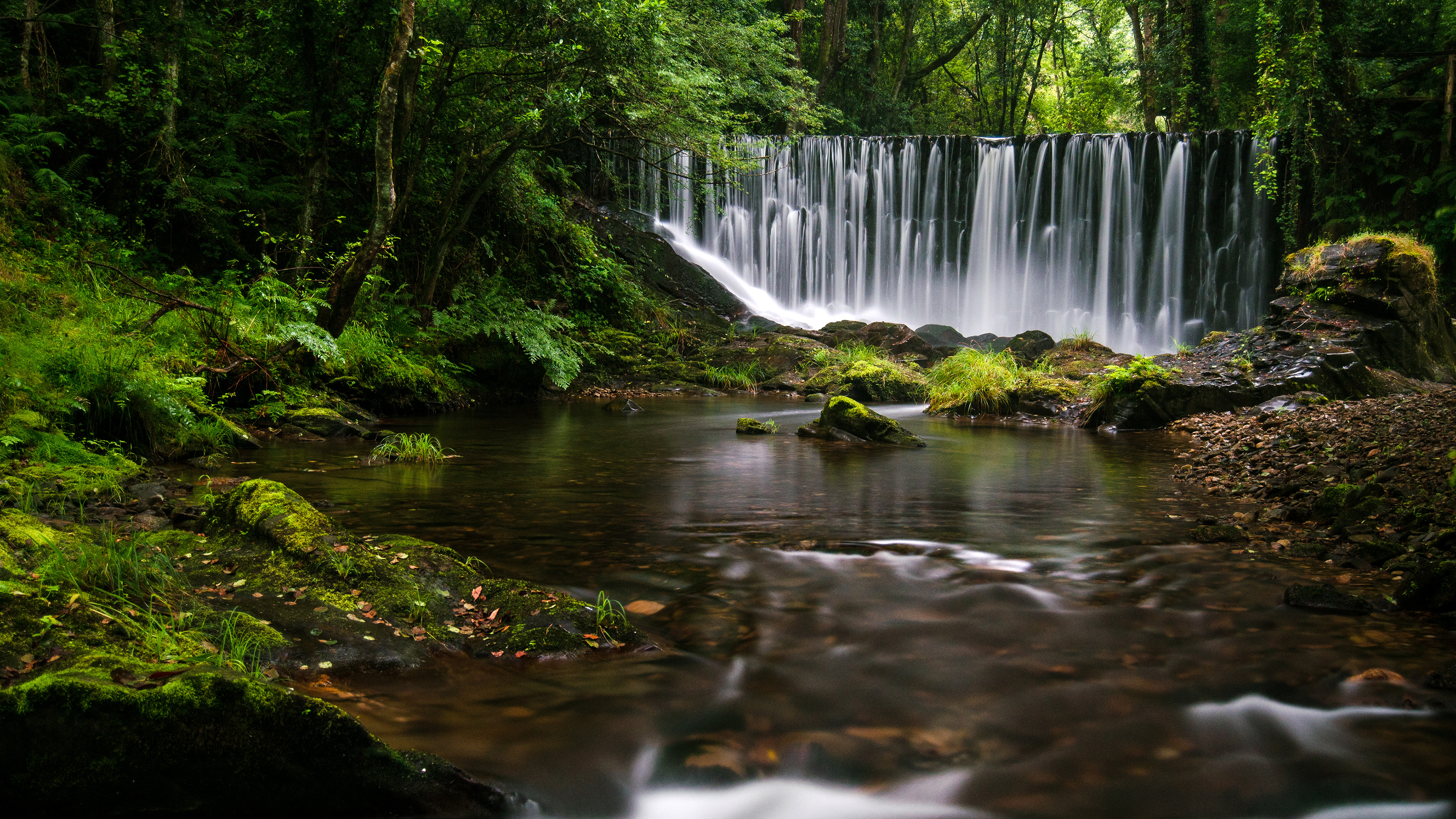 Fall Typography Laptop Wallpaper Galician Waterfall 4k Hd Nature 4k Wallpapers Images